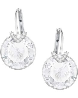 Bella V Silvertone Drop Earrings