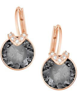 Bella V Grey Crystal Drop Earrings