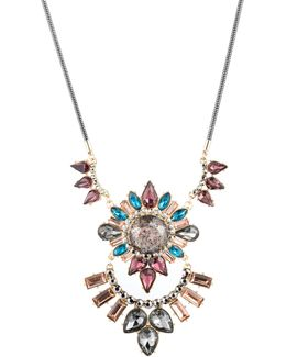 Make Me Blush Multi Stone-statement Necklace