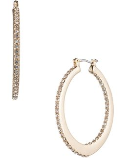 Make Me Blush Pave Oval Hoop Earrings