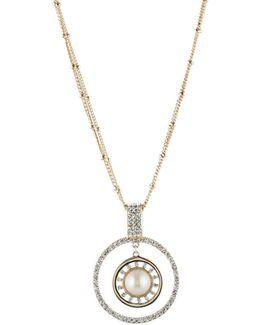 Majestic Faux Pearl Pendant Necklace