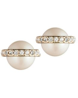 Majestic Faux Pearl Stud Earrings