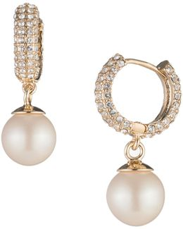Majestic Faux Pearl Hoop Earrings