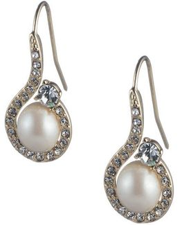 Majestic Faux Pearl Drop Earrings
