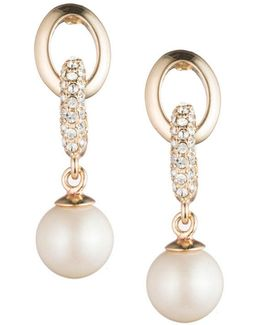 Majestic Faux Pearl Links Drop Earrings