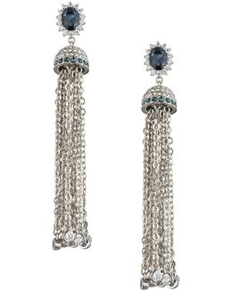 Imperial Sky Tassel Earrings