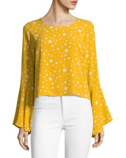 Billowing Bell Sleeve Top