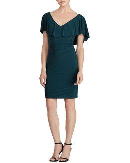 Tama Ruffled Jersey Sheath Dress