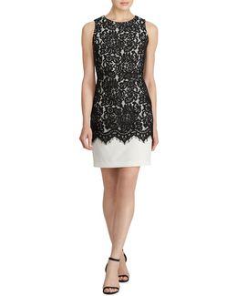 Tasha Lace-overlay Sheath Dress