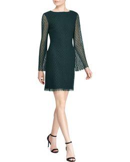 Cushnie Geometric Lace Shift Dress