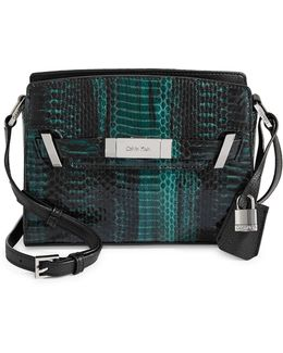 Python Pattern Crossbody Bag