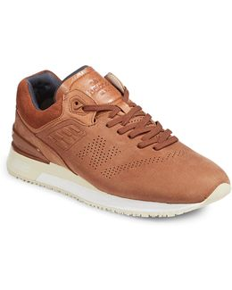 Mens Perforated Leather Sneakers