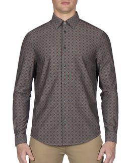 Future Mod Chambray Retro Spot Sport Shirt