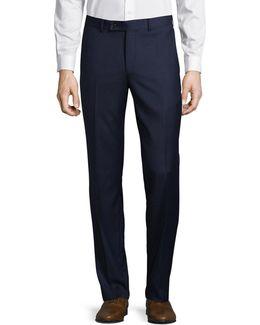 Joey Grid-check Wool Dress Pants