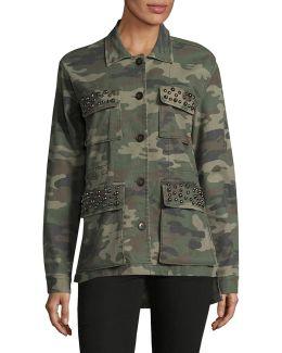 Studded Camo Utility Jacket