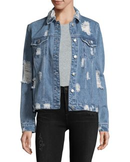 Destructed Oversized Denim Jacket