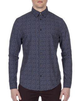 Micro Twill Cotton Sport Shirt