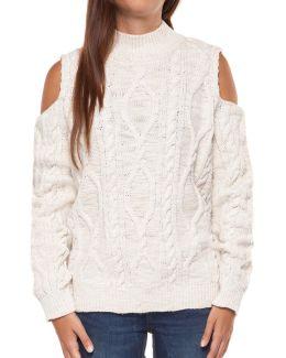 Long Sleeve Cold Shoulder Sweater
