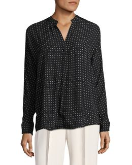 Plus Printed Blouse