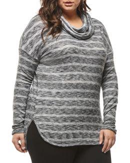Plus Centre Seam Oversized Sweater