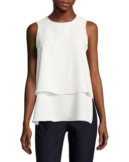 Double Layer Sleeveless Shirt