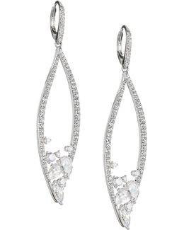 Calla Pave Drop Earrings
