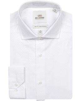 Diamond Stitch Cotton Dress Shirt