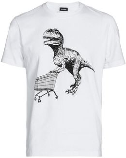 Dinosaur And Trolley Cotton T-shirt