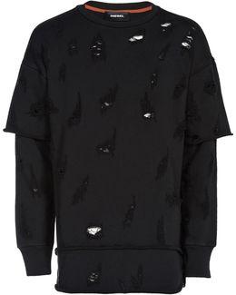 Mock Layered Cotton Sweatshirt