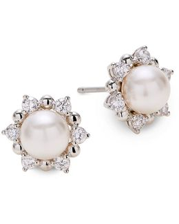 Faux Pearl Studded Earrings