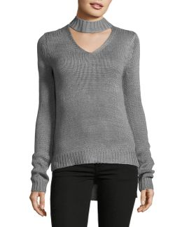Choker-neck Sweater