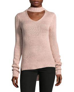 Choker-neck Sweater
