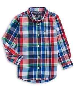 Quick-dry Plaid Button Shirt
