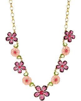 In Full Bloom Goldplated Floral Necklace