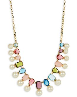 A New Hue Goldplated Bead Collar Necklace