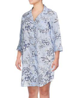 Plus Floral Print Slipshirt