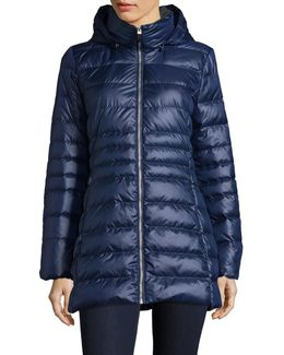 Sweater-weight Quilted Jacket With Premium Down