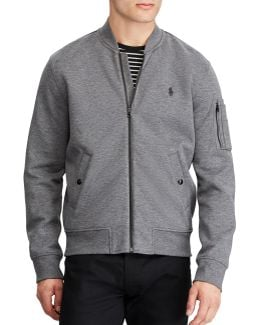 Big And Tall Double-knit Bomber Jacket