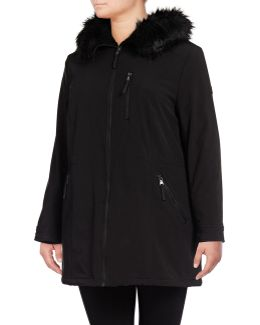 Sherpa-lined Anorak With Faux Fur