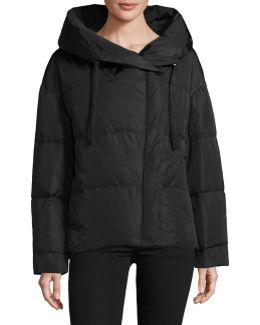Off-shoulder Down Puffer Jacket