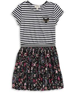 Mixed Print T-shirt Dress