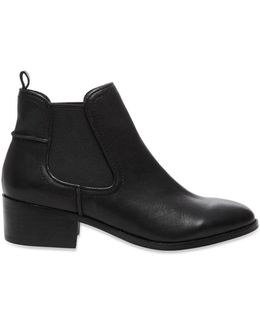 Dicey Leather Booties
