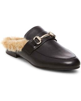 Jill Faux Fur Leather Slides