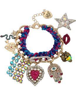 Woven Statement Charm Bracelet