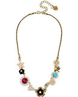 Multi-charm Frontal Necklace