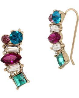 Multicolor Crawler Earrings
