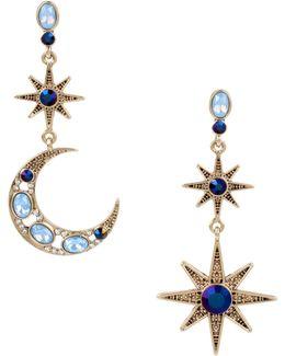 Moon & Star Drop Earrings