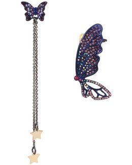 Mismatch Butterfly Earrings