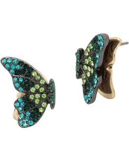 Tonal Butterfly Studs Earrings