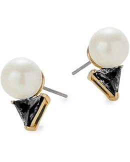 Bright Ideas Goldplated Triangle Bead Stud Earrings